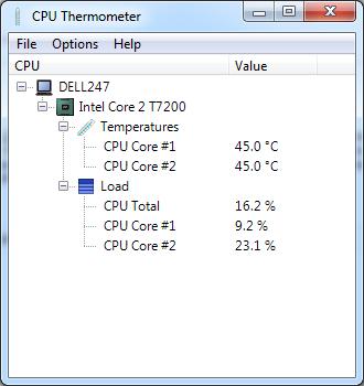CPU Thermometer in Celcius