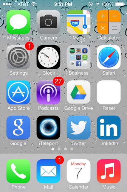 iPhone 4S iOS7 notification