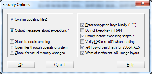 winhex security options