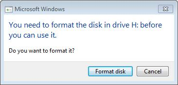 Format Disk?