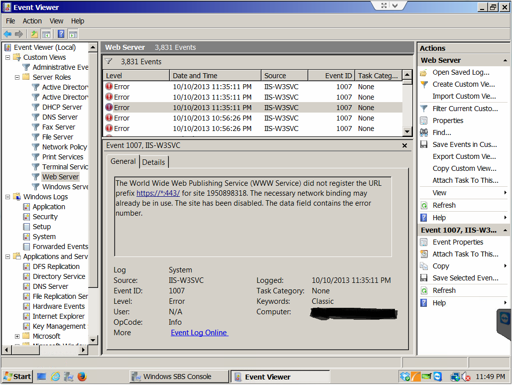 SOLUTION] SBS 2008 - Remote Web Workplace RDP to PCs stopped