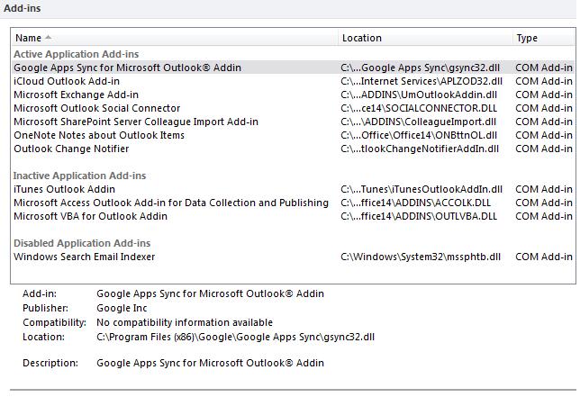 Outlook Add-In's