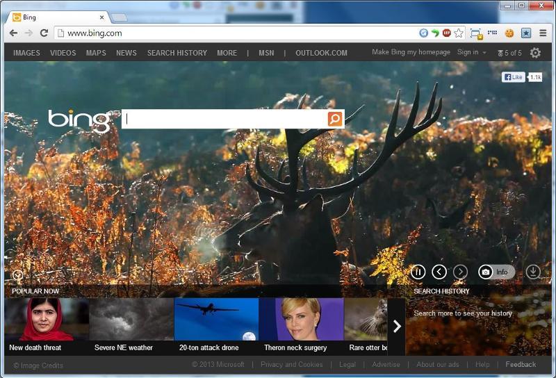 Bing Homepage
