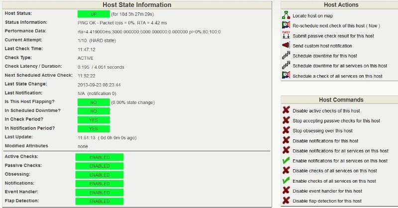 Host state information
