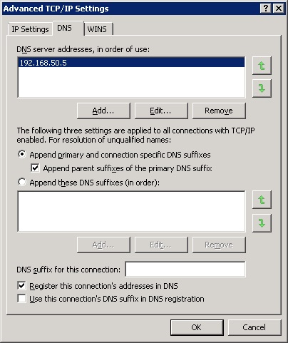 Advanced TCP/IP Settings DNS Tab?
