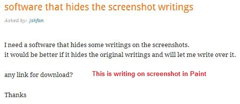 Snipping Tool capture writing with Paint