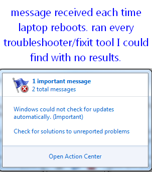 action center error