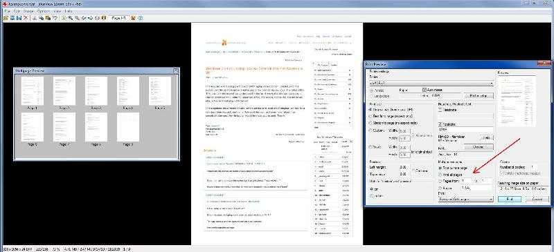 IrfanView thumbnails and multi-page printing
