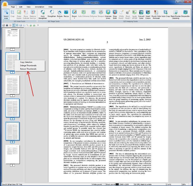 PaperPort thumbnails