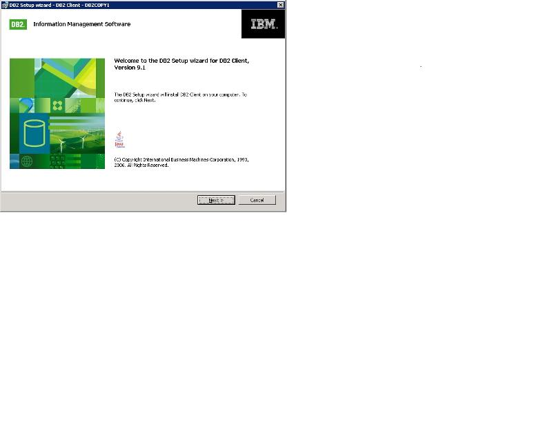 IBM CC installation screen.
