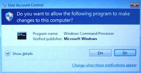 User Account Control prompt