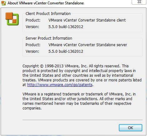 VMware vCenter Converter Standalone v5.5