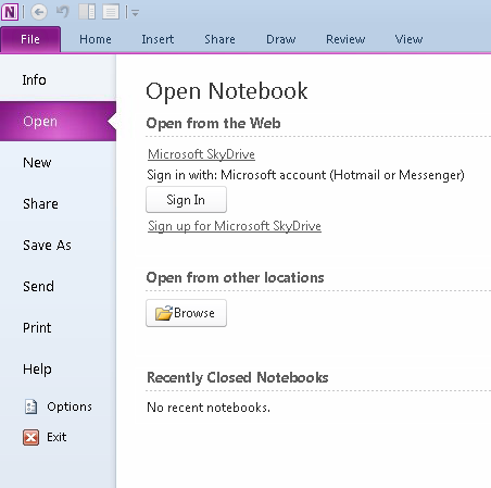 OneNote, work, asking to sign-in