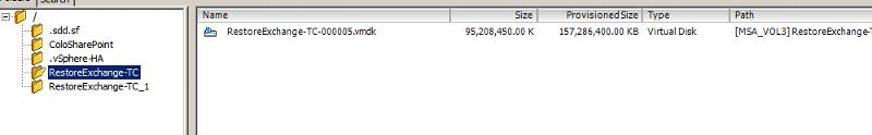 contents of orginal folder after the failure.