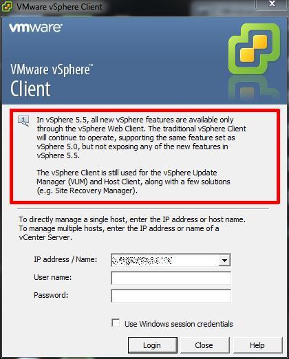 VMware vSphere Client 5.5