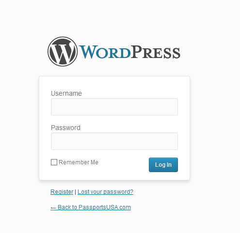 WordPress Admin Portal