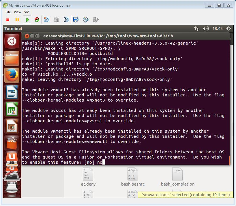 HOW TO: Install VMware Tools for Linux on a VMware Linux