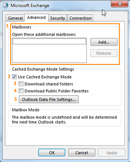 exchange advanced settings