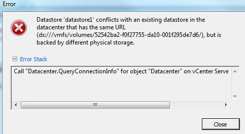 host add error