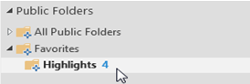public folder favorites