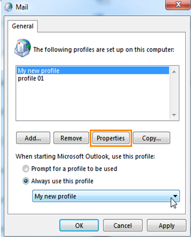 account properties