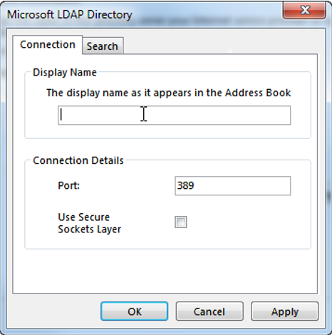ldap more settings - connection