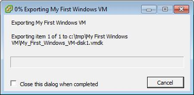 Exporting My First Windows VM
