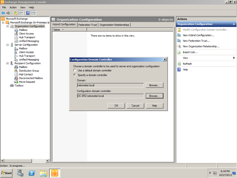 Specify Exchange 2010 Configuration Domain Controller