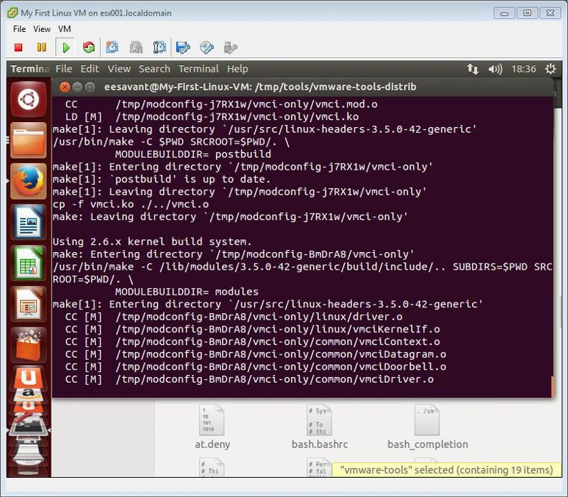 VMware Tools Compile drivers continued