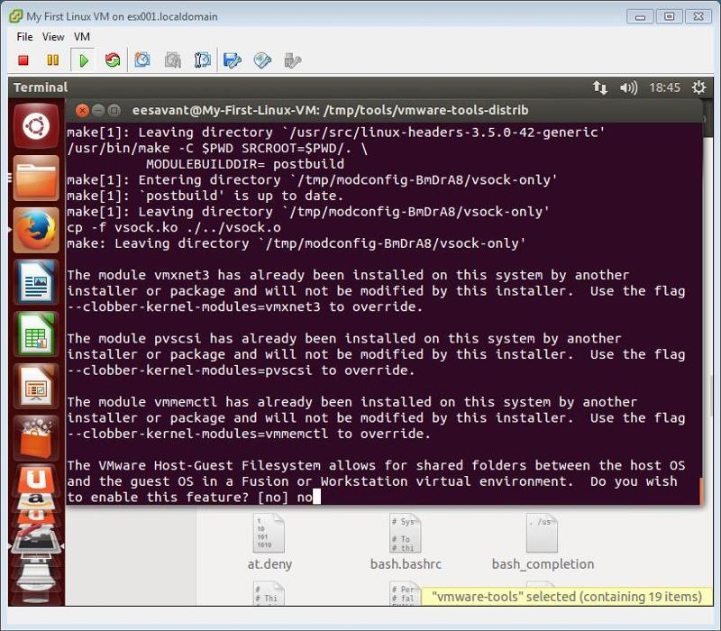 VMware Tools Compile no drivers