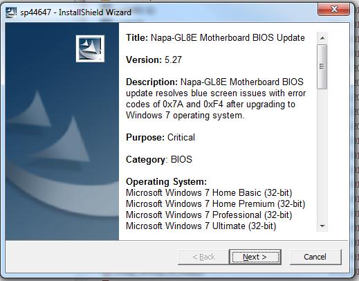 BIOS install