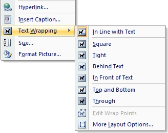 Word Text Wrapping
