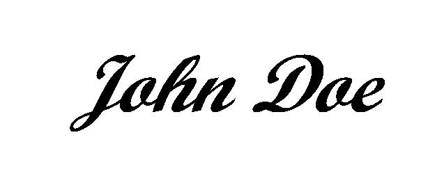 John Doe sig not transparent