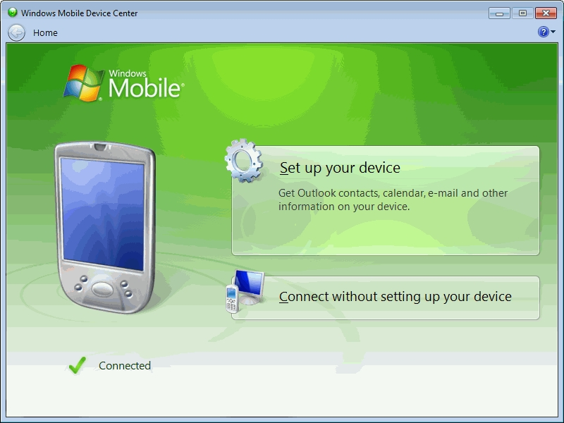 windows mobile device center image 1
