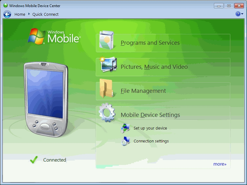 windows mobile device center image 2