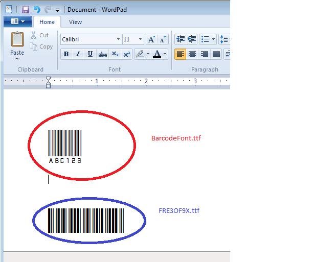 BarCode Printout