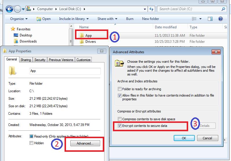 Windows Folder Encryption