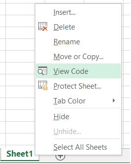 Worksheet - View Code