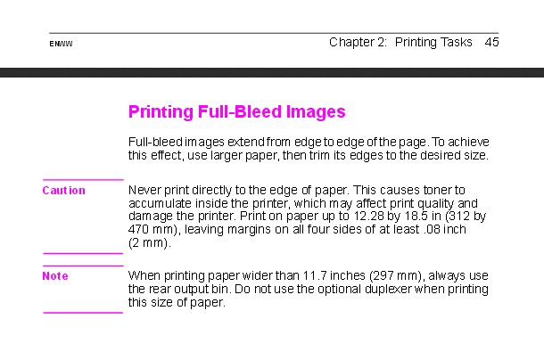 printing limits