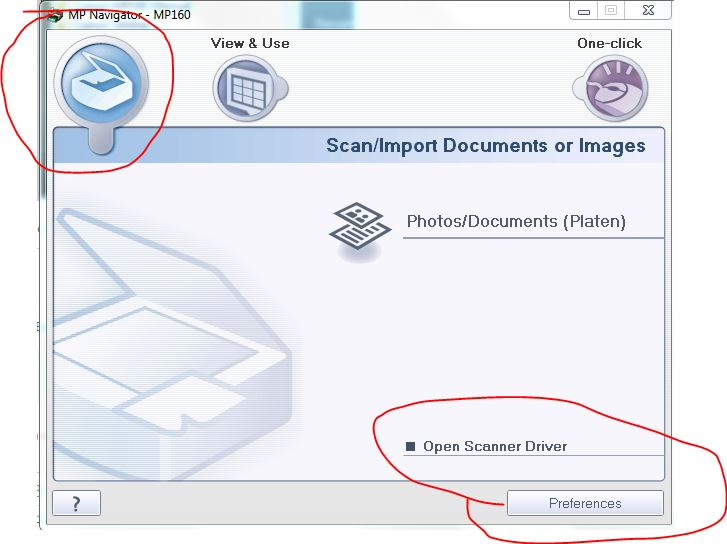 scan import options