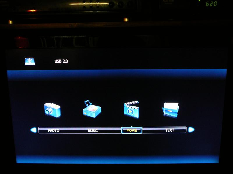 USB drive menu