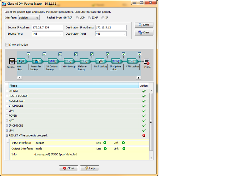 Packet Trace from WSUS server on other side of VPN to local server