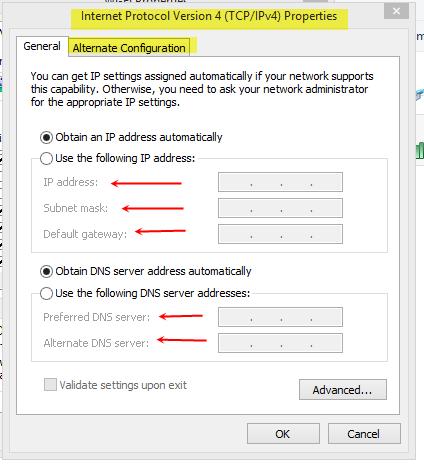 DHCP-Settings