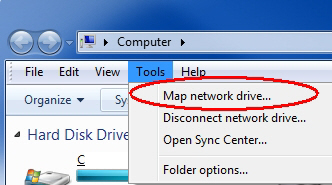 Tools - Map network drive