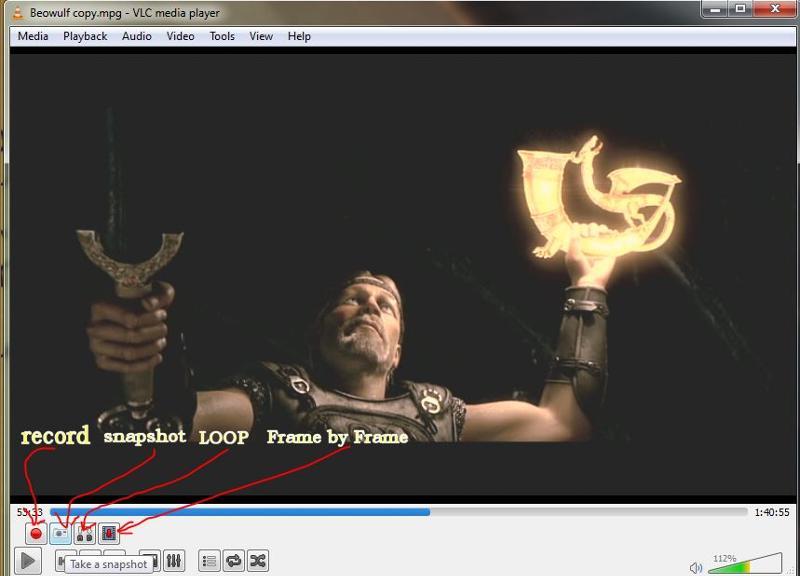 VLC controls