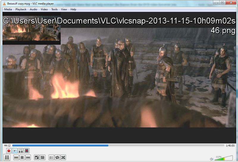 VLC saved snaps