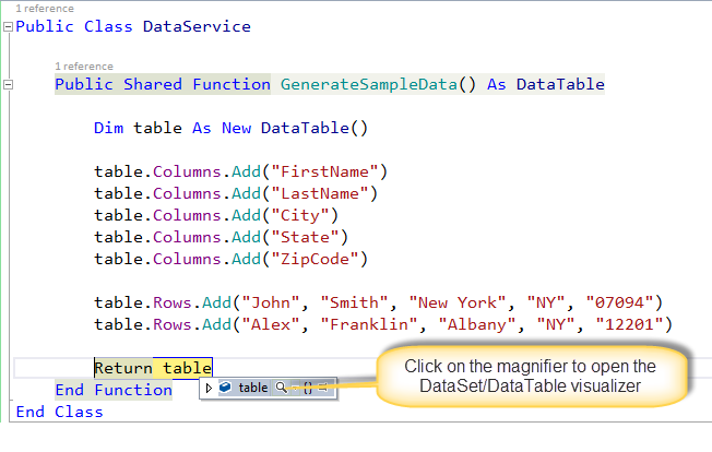 DataTable Visualizer