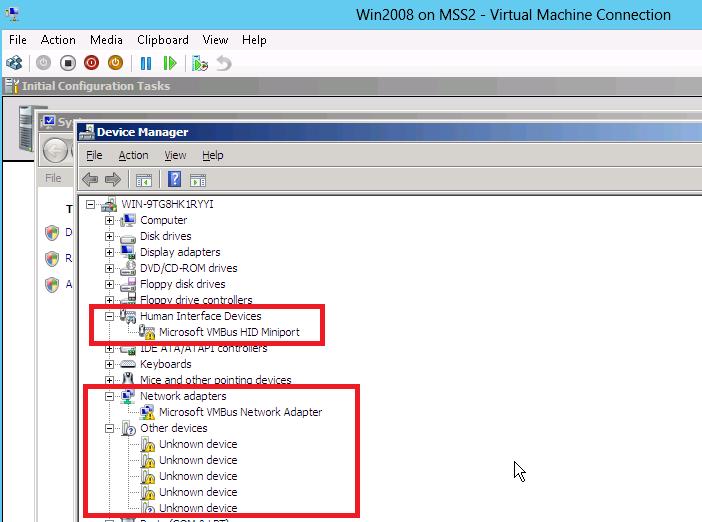 VM - Win2008 Server