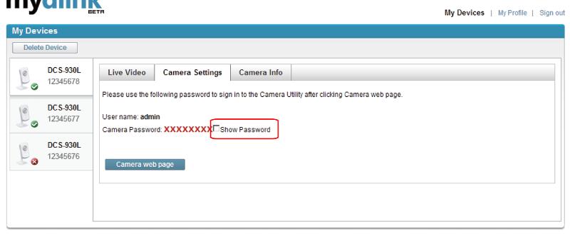DCS-930L - Show Password (click for larger)