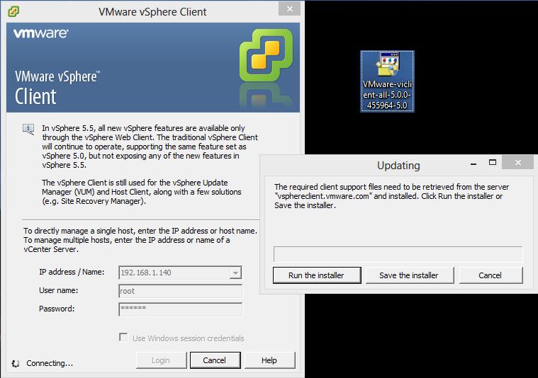 vmware esxi 5.5 windows 10 support